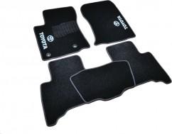 Коврики в салон текстильные Toyota Land Prado 150 (2013-) 5 мест Черные,  комплект 5шт