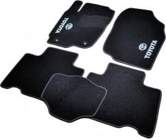 Коврики в салон текстильные Toyota RAV4 (2013-) Черные,  комплект 5шт