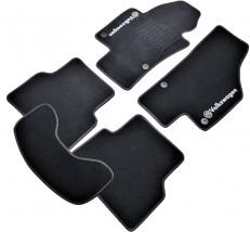 Коврики в салон текстильные Volkswagen Tiguan (2007-2016) Черные,  комплект 5шт