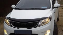 SIM Дефлектор капота  KIA Rio 2011-2015 седан/хетчбек