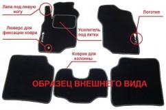 Коврики ворсистые серые Nissan Tiida II hb (15-)