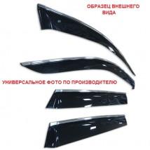 "Ветровики с хром молдингом Chevrolet Aveo I Sd 2006-2010 СИНИЙ  ""CT"""