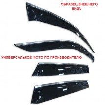 "Ветровики с хром молдингом Ford Focus II Wagon 2004-2011""EuroStandard"""