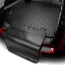 Коврик в багажник премиум  Porsche Cayenne 2010-, черный, с накидкой без саба