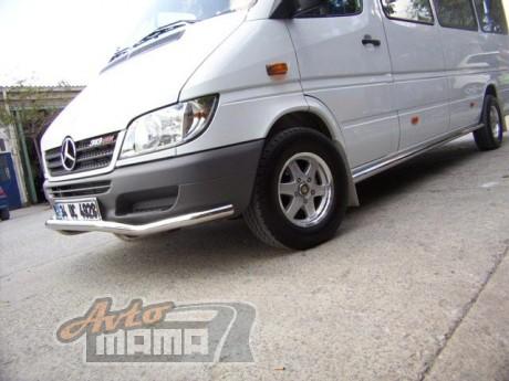 Can Otomotiv Кенгурятник (защита бампера) Mercedes Sprinter (1999-2005) /ус передний изогнуты - Картинка 1