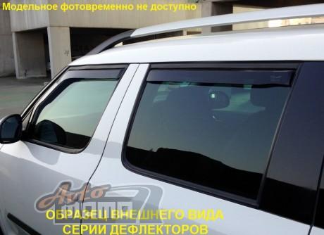 Heko Дефлекторы окон (ветровики) Mitsubishi Lancer 10 2007 -> 4D / клеющ-ся, кт - 4шт/ - Картинка 5