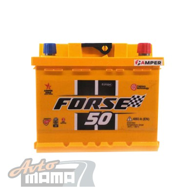 FORSE АККУМУЛЯТОР FORSE (WESTA) 6СТ-50AH АЗЕ 480A R+ - Картинка 1
