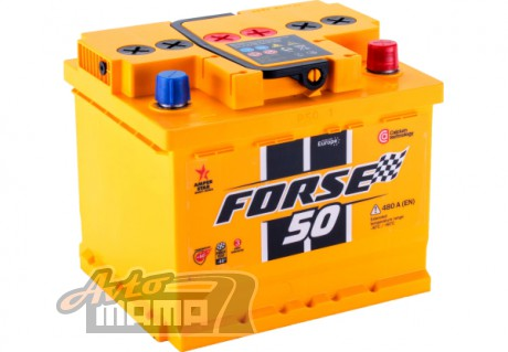 FORSE АККУМУЛЯТОР FORSE (WESTA) 6СТ-50AH АЗЕ 480A R+ - Картинка 2