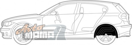Mega Locker Подкрылки задние Chevrolet Tacuma (Vivant, Rezzo) (2000-2008) - Картинка 1