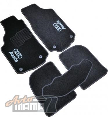 AVTM Коврики в салон текстильные Audi 100/ А6 (1991-1997) Черные, комплект 5шт - Картинка 1