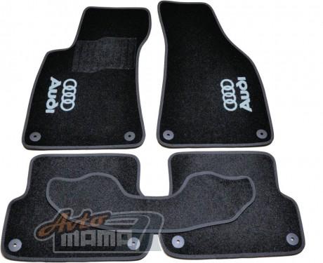 AVTM Коврики в салон текстильные Audi A4 В6,B7 (2000-2008) Черные, комплект 5шт - Картинка 1